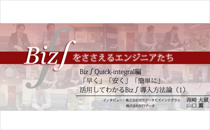 Quick-Integral編 「早く」「安く」「簡単に」 活用してわかるBiz∫導入方法論(1)様の画像