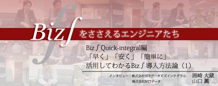 Quick-Integral編 「早く」「安く」「簡単に」 活用してわかるBiz∫導入方法論(1)