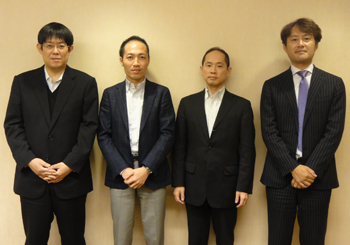 NTTデータITマネジメント室石井剛人様、伊藤司様、奥村敏彦様、富士川孝之様